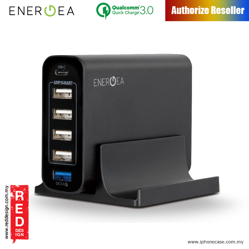 Picture of Energea POWERHUB6C USB-C and 5 USB-A Charging Station One Universal Solution for All Devices Red Design- Red Design Cases, Red Design Covers, iPad Cases and a wide selection of Red Design Accessories in Malaysia, Sabah, Sarawak and Singapore