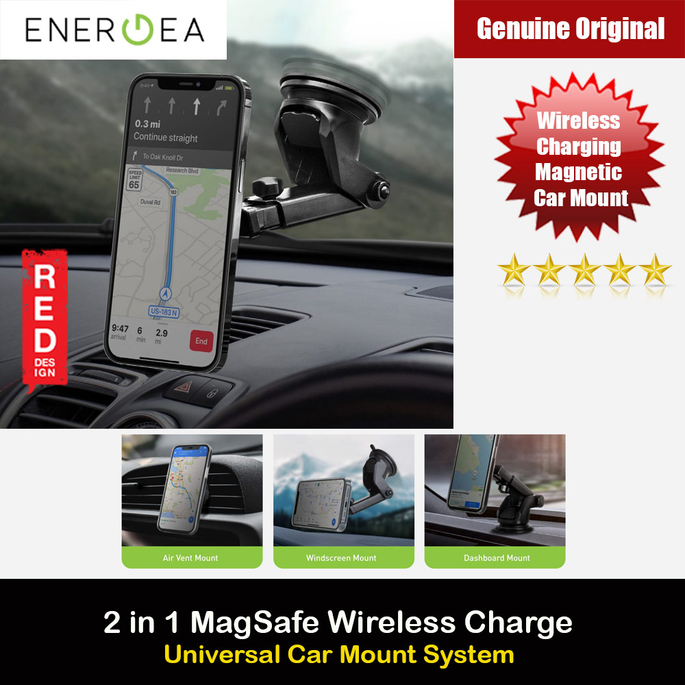 Picture of Energea MagDisc Drive Magsafe Wireless Charging Magnetic Car Mount Car Dashboard Mout Car Airvent Mount Red Design- Red Design Cases, Red Design Covers, iPad Cases and a wide selection of Red Design Accessories in Malaysia, Sabah, Sarawak and Singapore