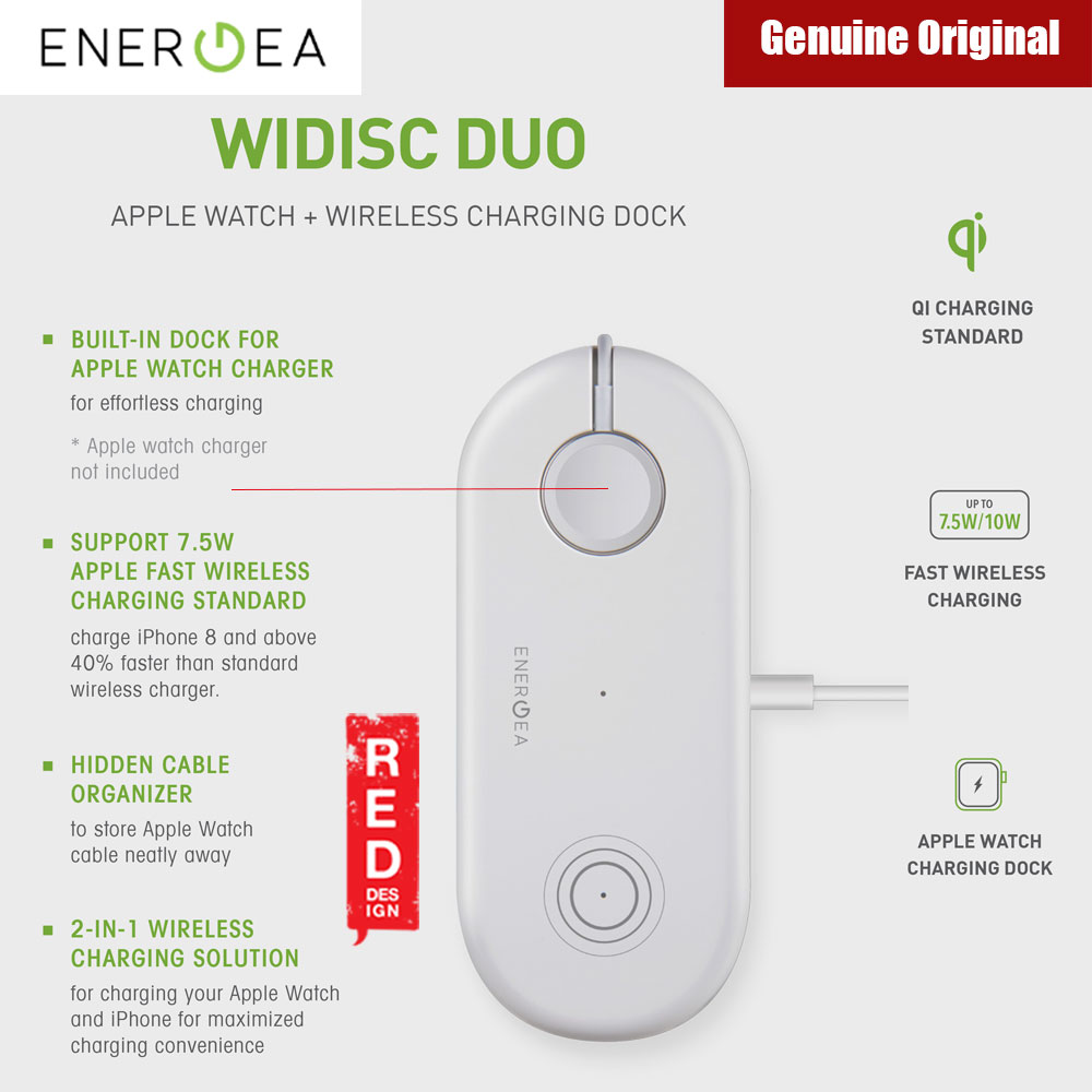 Picture of Energea WiDisc Duo Fast Wireless Charge for iPhone 8 iPhone X iPhone XS Max Red Design- Red Design Cases, Red Design Covers, iPad Cases and a wide selection of Red Design Accessories in Malaysia, Sabah, Sarawak and Singapore