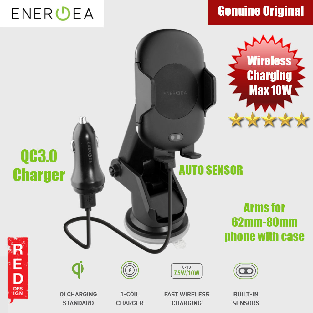 Picture of Energea Wimount Sense Auto Sensor Wireless Car Charger Car Mount Red Design- Red Design Cases, Red Design Covers, iPad Cases and a wide selection of Red Design Accessories in Malaysia, Sabah, Sarawak and Singapore