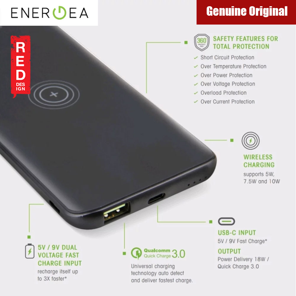 Picture of Energea Enerpac 8000WPF 8000mAh Power Bank with Wireless Charging (Black)