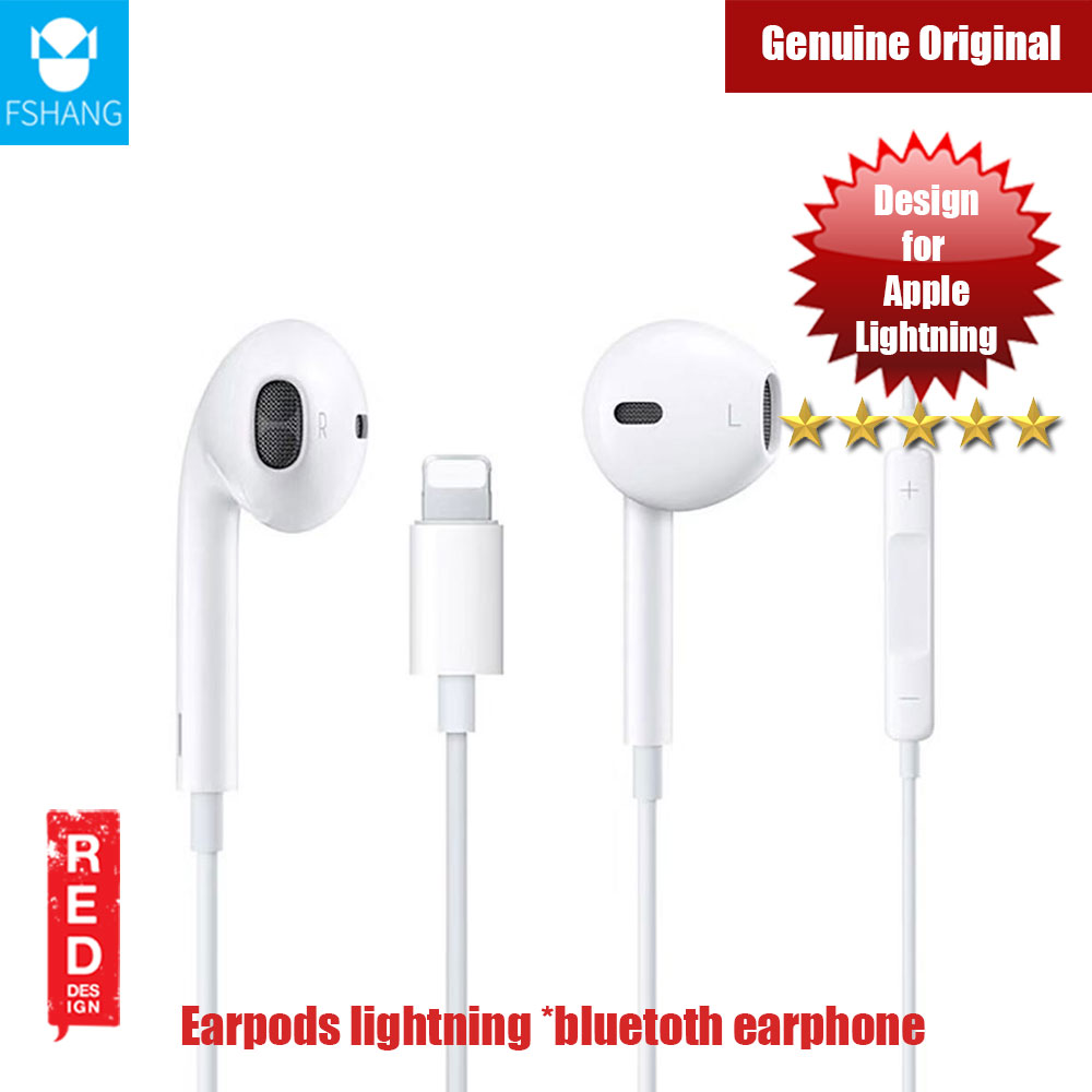 Picture of Fshang F3 Series Earpods Lightning Wired Bluetooth Earphone (white) Red Design- Red Design Cases, Red Design Covers, iPad Cases and a wide selection of Red Design Accessories in Malaysia, Sabah, Sarawak and Singapore