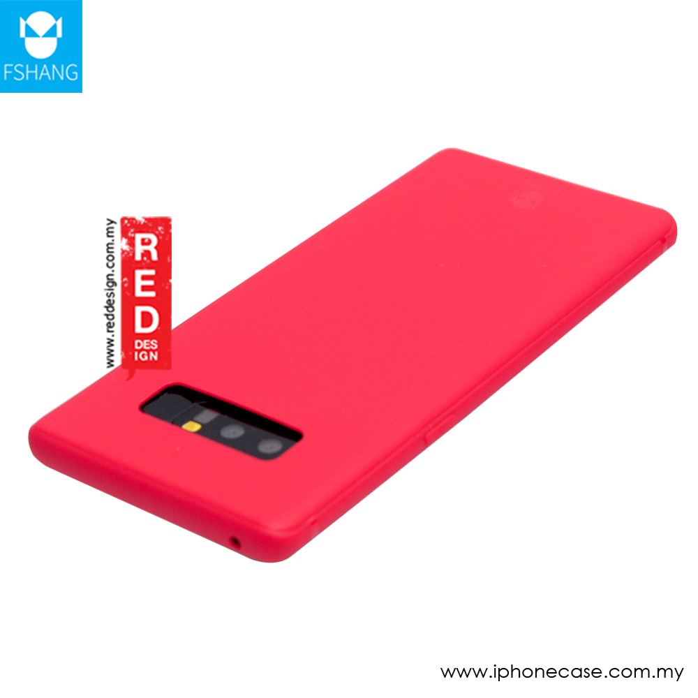 Picture of Samsung Galaxy Note 8 Case | Fshang Soft Color Ultra Slim TPU Case for Samsung Galaxy Note 8 (Watermelon Red)