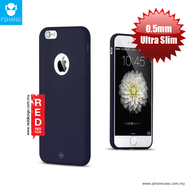 Picture of Apple iPhone 6S Plus 5.5 Case | Fshang Soft Color Ultra Slim Case for Apple iPhone 6S Plus 5.5 - Navy Blue
