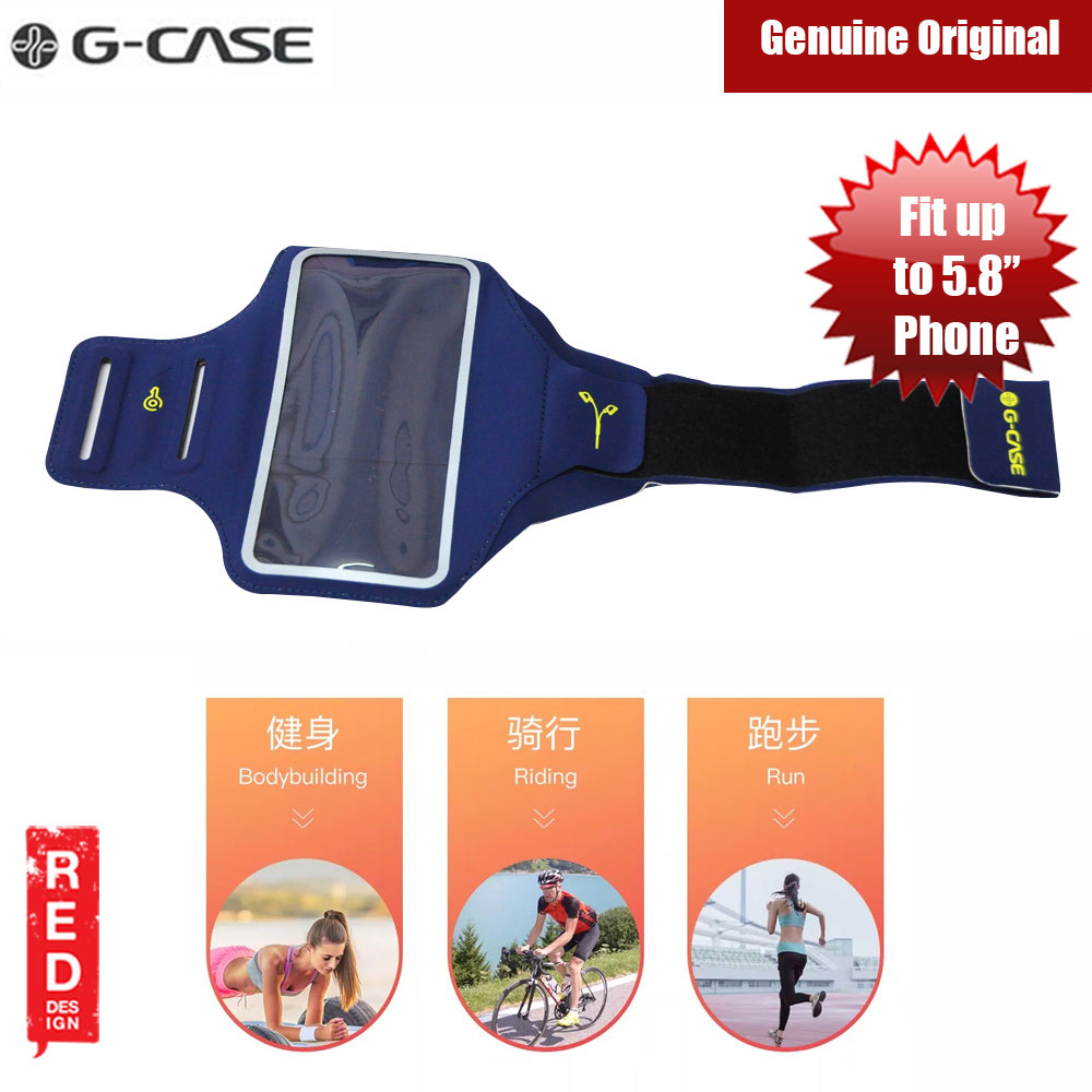 Picture of Gcase Niki Series Sport Armband with Window Compatible for iPhone XS Max Note 9 P20 Pro or Smartphone up to 6.5 inches (Blue) Red Design- Red Design Cases, Red Design Covers, iPad Cases and a wide selection of Red Design Accessories in Malaysia, Sabah, Sarawak and Singapore