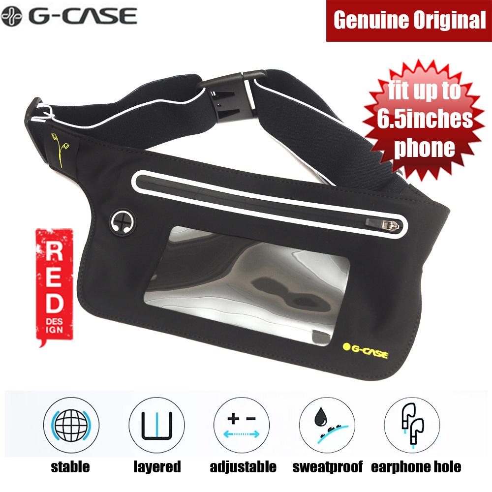 Picture of Gcase Niki Series Sport Waist Bag with Window Compatible with Samsung Galaxy Note 9 Huawei P20 Pro iPhone XR XS XS Max (Black) Red Design- Red Design Cases, Red Design Covers, iPad Cases and a wide selection of Red Design Accessories in Malaysia, Sabah, Sarawak and Singapore