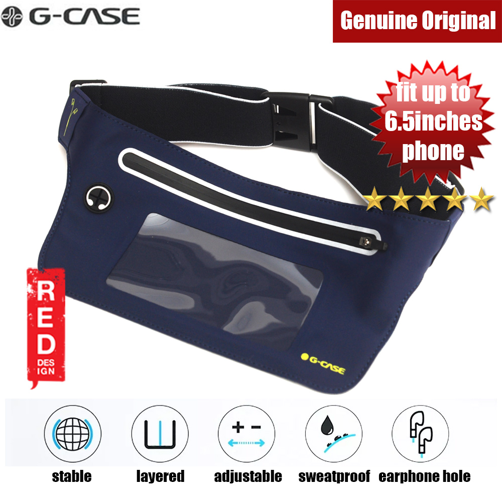Picture of Gcase Niki Series Sport Waist Bag with Window Compatible with Samsung Galaxy Note 9 Huawei P20 Pro iPhone XR XS XS Max (Navy Blue) Red Design- Red Design Cases, Red Design Covers, iPad Cases and a wide selection of Red Design Accessories in Malaysia, Sabah, Sarawak and Singapore
