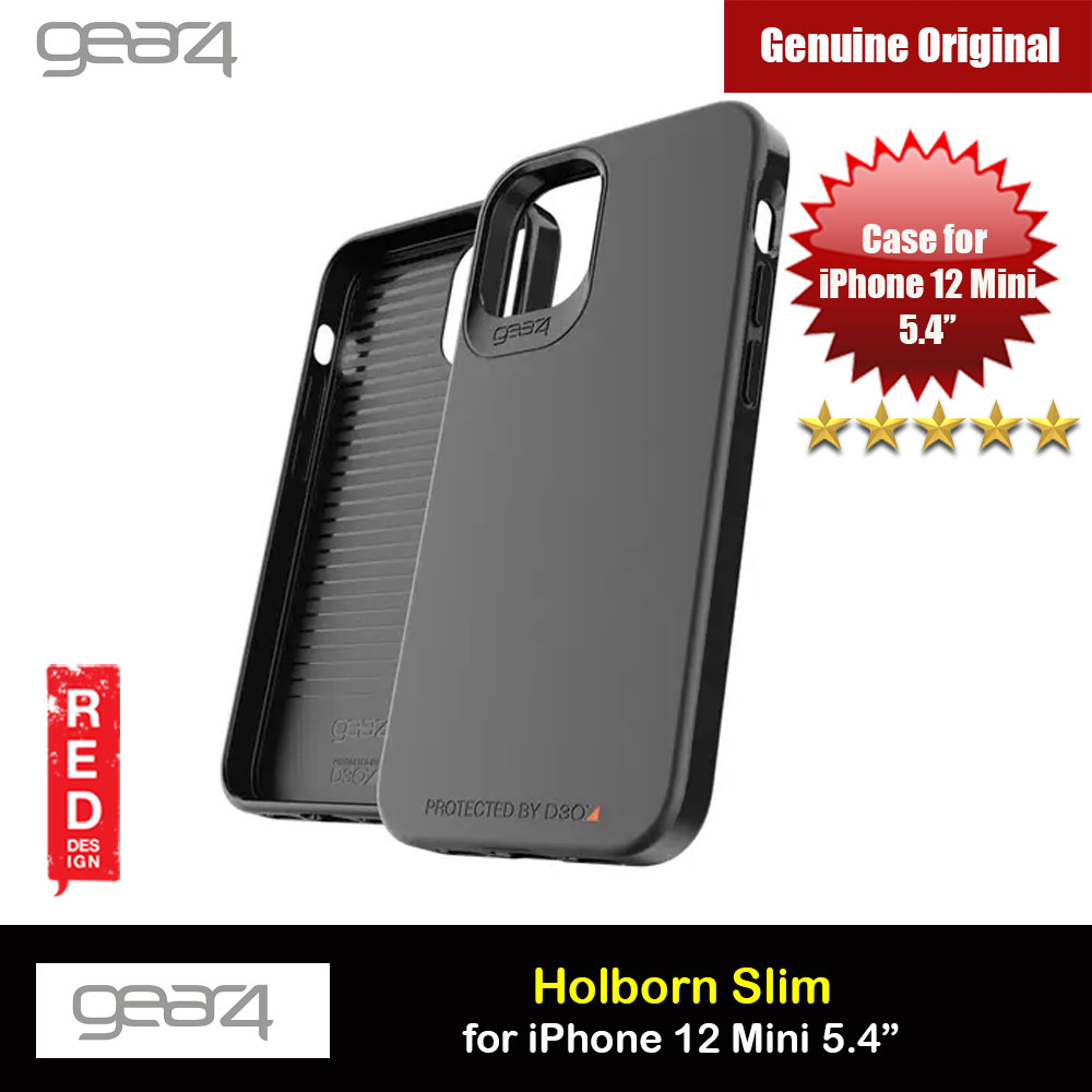 Picture of Gear4 D30 Holborn Slim Soft Touch Drop Protection Case for iPhone 12 Mini 5.4 (Black) Apple iPhone 12 mini 5.4- Apple iPhone 12 mini 5.4 Cases, Apple iPhone 12 mini 5.4 Covers, iPad Cases and a wide selection of Apple iPhone 12 mini 5.4 Accessories in Malaysia, Sabah, Sarawak and Singapore