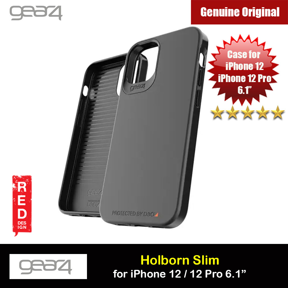 Picture of Gear4 D30 Holborn Slim Soft Touch Drop Protection Case for iPhone 12 iPhone 12 Pro 6.1 (Black) Apple iPhone 12 6.1- Apple iPhone 12 6.1 Cases, Apple iPhone 12 6.1 Covers, iPad Cases and a wide selection of Apple iPhone 12 6.1 Accessories in Malaysia, Sabah, Sarawak and Singapore