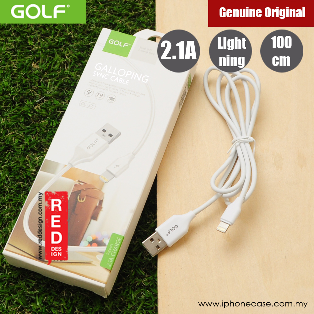 Picture of Golf Galloping Sync Charge Cable Compatible with Lightning Smartphone (White) Red Design- Red Design Cases, Red Design Covers, iPad Cases and a wide selection of Red Design Accessories in Malaysia, Sabah, Sarawak and Singapore