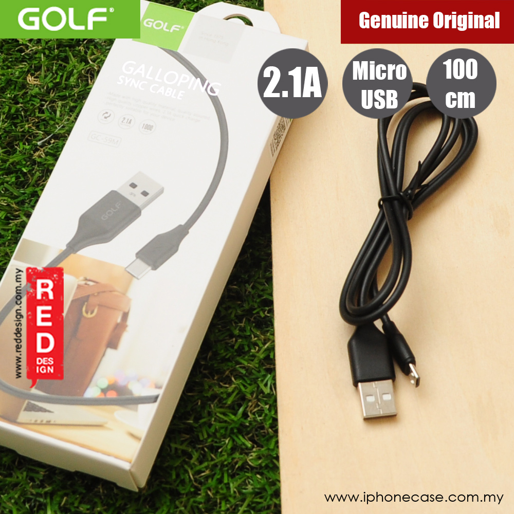 Picture of Golf Galloping Sync Charge Cable Compatible with Micro USB Smartphone (Black)