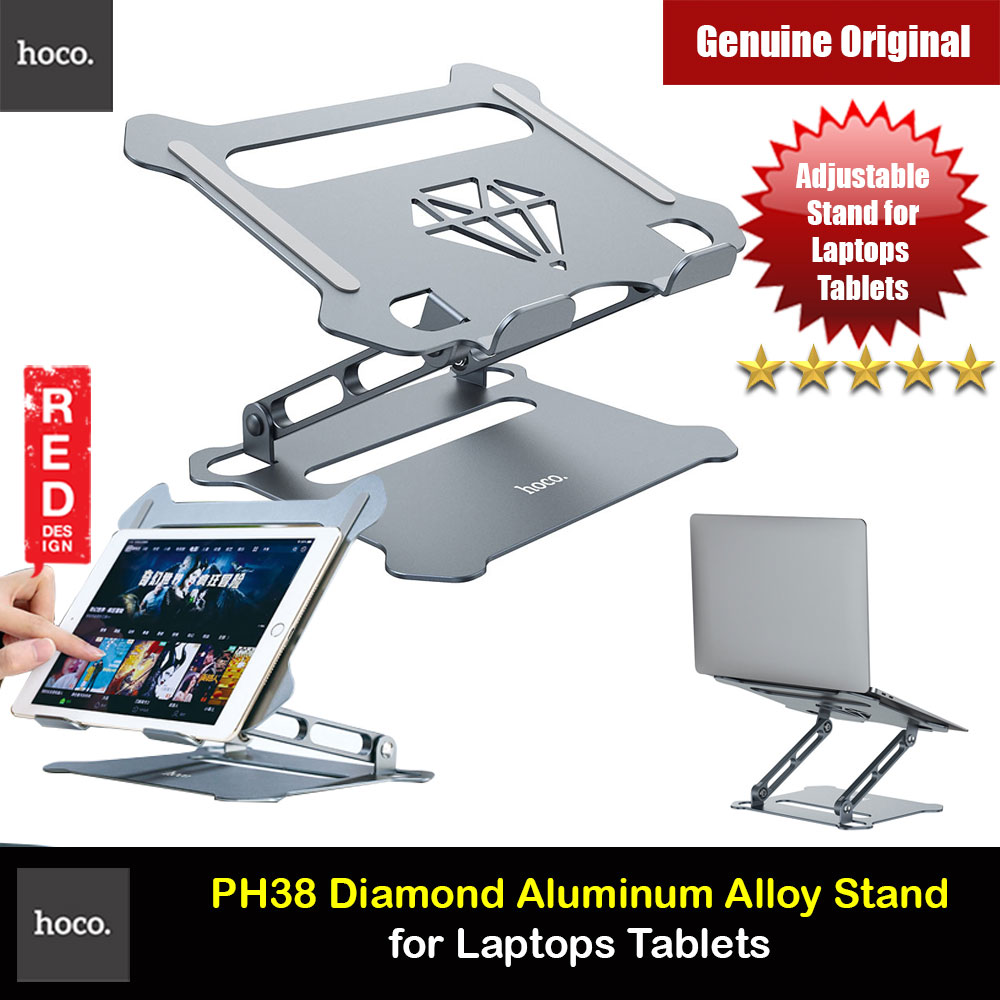 Picture of Hoco Adjustable Height Angle Laptop Stand Laptop Stand Aluminium Laptop Foldable Stand for Apple MacBook Pro Laptops Notebook Tablets iPad iPad Pro Portable Laptop Stand for Online Class Office Travel Red Design- Red Design Cases, Red Design Covers, iPad Cases and a wide selection of Red Design Accessories in Malaysia, Sabah, Sarawak and Singapore