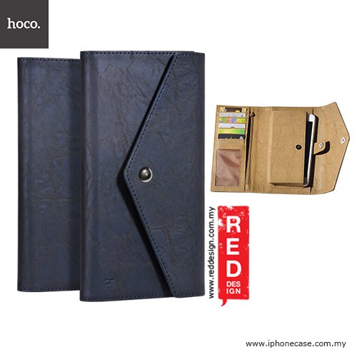 "Picture of Hoco Portfolio 2 Series Universal PU Leather Wallet Case for 4.8"" up to 5.5"" Smartphone - Navy Blue Apple iPhone 6 4.7- Apple iPhone 6 4.7 Cases, Apple iPhone 6 4.7 Covers, iPad Cases and a wide selection of Apple iPhone 6 4.7 Accessories in Malaysia, Sabah, Sarawak and Singapore"