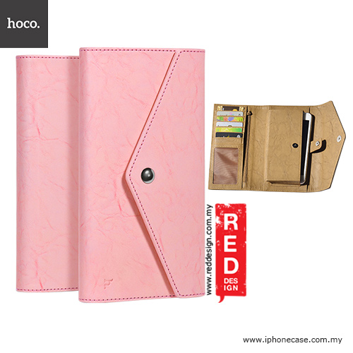 "Picture of Hoco Portfolio 2 Series Universal PU Leather Wallet Case for 4.8"" up to 5.5"" Smartphone - Pink Apple iPhone 8 Plus- Apple iPhone 8 Plus Cases, Apple iPhone 8 Plus Covers, iPad Cases and a wide selection of Apple iPhone 8 Plus Accessories in Malaysia, Sabah, Sarawak and Singapore"