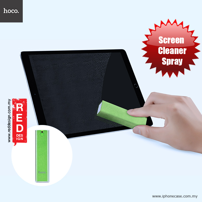 Picture of Hoco Microfiber and Spray 2 in 1 Screen Cleaner for iPhones iPads Smartphones Tablets Laptops - Green Red Design- Red Design Cases, Red Design Covers, iPad Cases and a wide selection of Red Design Accessories in Malaysia, Sabah, Sarawak and Singapore