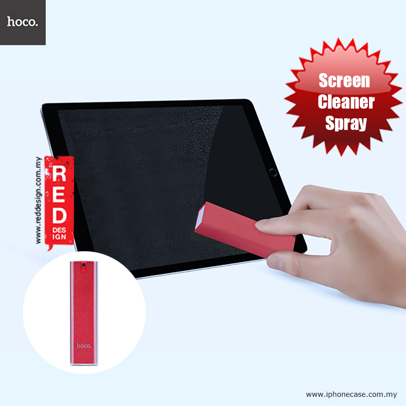 Picture of Hoco Microfiber and Spray 2 in 1 Screen Cleaner for iPhones iPads Smartphones Tablets Laptops - Red Red Design- Red Design Cases, Red Design Covers, iPad Cases and a wide selection of Red Design Accessories in Malaysia, Sabah, Sarawak and Singapore
