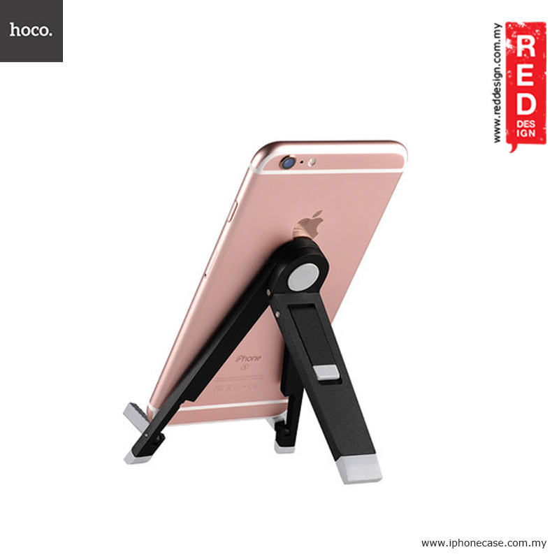 Picture of Hoco Tabletop Metal Smartphone Stand Holder - Black Red Design- Red Design Cases, Red Design Covers, iPad Cases and a wide selection of Red Design Accessories in Malaysia, Sabah, Sarawak and Singapore