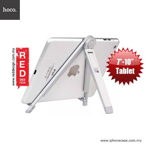 Picture of Hoco Tabletop Metal iPad Mini iPad Air Tablet Stand Holder - Silver Red Design- Red Design Cases, Red Design Covers, iPad Cases and a wide selection of Red Design Accessories in Malaysia, Sabah, Sarawak and Singapore