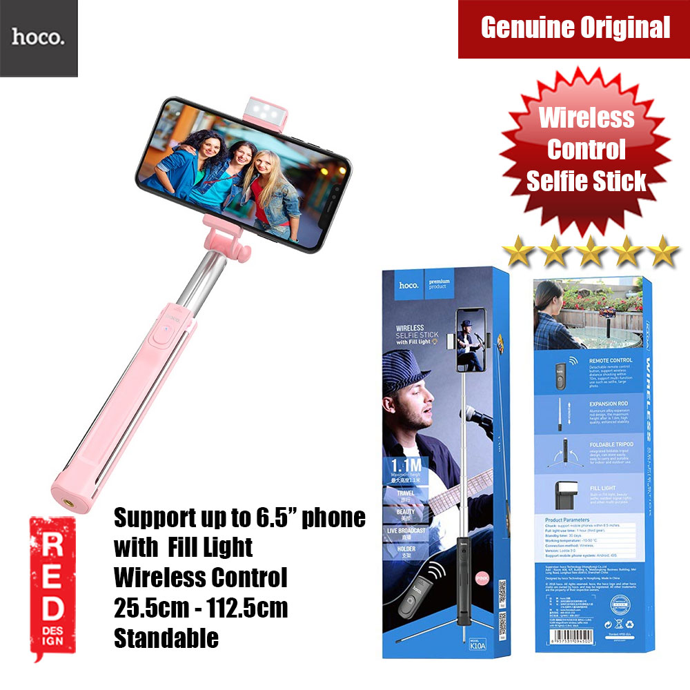 Picture of Hoco Selfie stick wireless monopod remote control with LED Light (Pink) Red Design- Red Design Cases, Red Design Covers, iPad Cases and a wide selection of Red Design Accessories in Malaysia, Sabah, Sarawak and Singapore