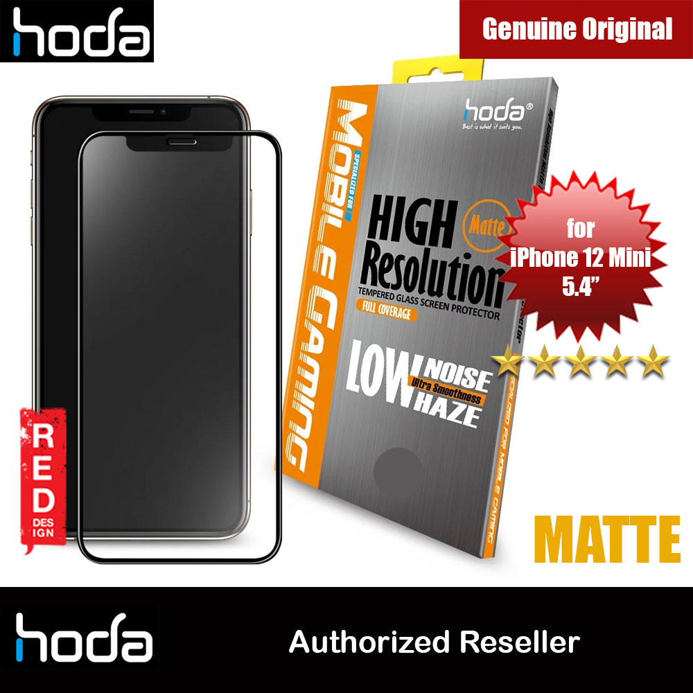 Picture of Hoda 0.33mm Full Coverage Tempered Glass Screen Protector Design for Gaming Gamer for Apple iPhone 12 Mini 5.4 (Matte) Apple iPhone 12 mini 5.4- Apple iPhone 12 mini 5.4 Cases, Apple iPhone 12 mini 5.4 Covers, iPad Cases and a wide selection of Apple iPhone 12 mini 5.4 Accessories in Malaysia, Sabah, Sarawak and Singapore