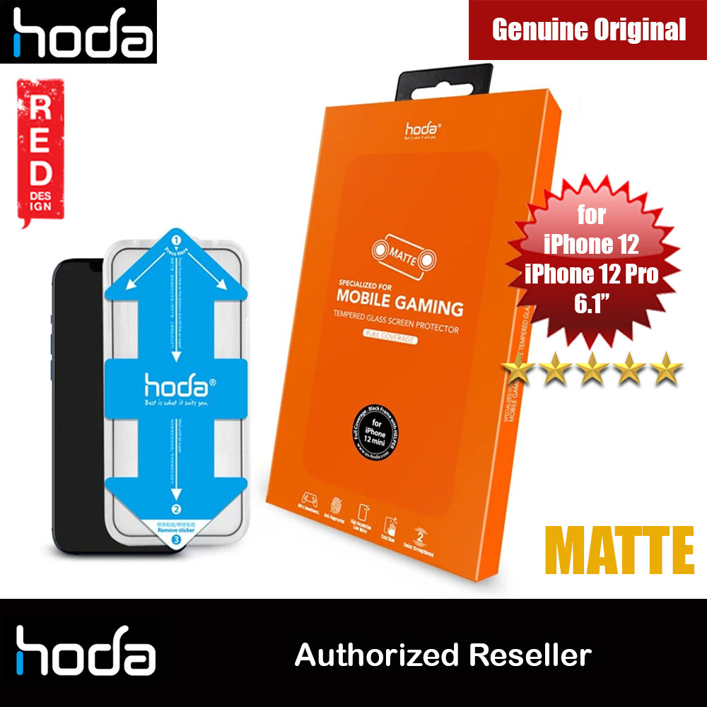 Picture of Hoda 0.33mm Full Coverage Tempered Glass Screen Protector Design for Gaming Gamer for Apple iPhone 12 iPhone 12 Pro 6.1 (Matte with Helper Installation Kit) Apple iPhone 12 6.1- Apple iPhone 12 6.1 Cases, Apple iPhone 12 6.1 Covers, iPad Cases and a wide selection of Apple iPhone 12 6.1 Accessories in Malaysia, Sabah, Sarawak and Singapore