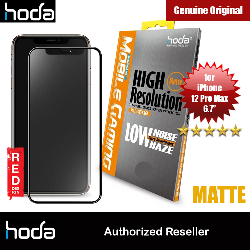 Picture of Hoda 0.33mm Full Coverage Tempered Glass Screen Protector Design for Gaming Gamer for Apple iPhone 12 Pro Max 6.7 (Matte) Apple iPhone 12 Pro Max 6.7- Apple iPhone 12 Pro Max 6.7 Cases, Apple iPhone 12 Pro Max 6.7 Covers, iPad Cases and a wide selection of Apple iPhone 12 Pro Max 6.7 Accessories in Malaysia, Sabah, Sarawak and Singapore