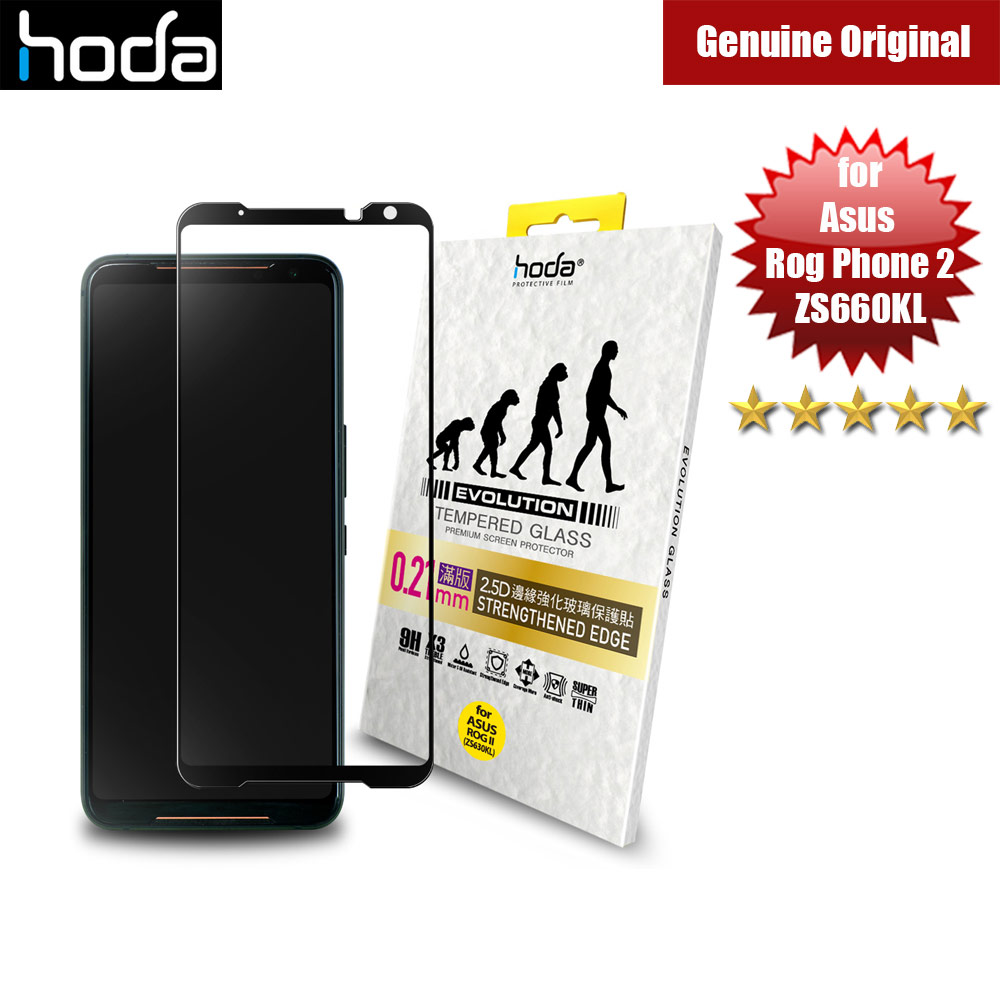 Picture of Hoda 0.21mm Strengthened Edges Full Coverage Tempered Glass Protector for Asus Rog Phone II Rog Phone 2 ZS660KL (Black) Asus Rog Phone 2- Asus Rog Phone 2 Cases, Asus Rog Phone 2 Covers, iPad Cases and a wide selection of Asus Rog Phone 2 Accessories in Malaysia, Sabah, Sarawak and Singapore