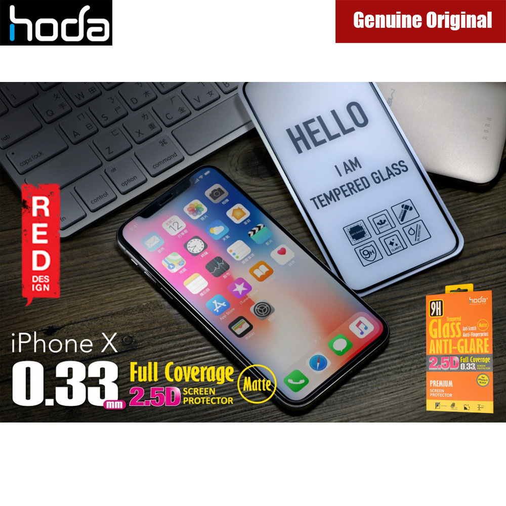 Picture of Hoda 0.33mm Full Coverage Anti Glare Anti Finger Print Matte Tempered Glass Screen Protector for Apple iPhone X Xs (Black) Apple iPhone X- Apple iPhone X Cases, Apple iPhone X Covers, iPad Cases and a wide selection of Apple iPhone X Accessories in Malaysia, Sabah, Sarawak and Singapore