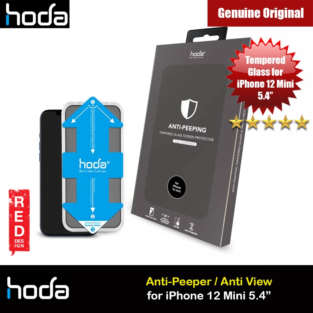 Picture of Hoda 0.33mm Full Coverage Tempered Glass Screen Protector for Apple iPhone 12 Mini 5.4 (Anti Peep with Helper Installation Kit) Apple iPhone 12 mini 5.4- Apple iPhone 12 mini 5.4 Cases, Apple iPhone 12 mini 5.4 Covers, iPad Cases and a wide selection of Apple iPhone 12 mini 5.4 Accessories in Malaysia, Sabah, Sarawak and Singapore
