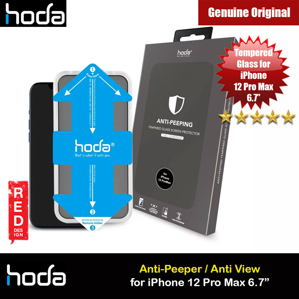Picture of Hoda 0.33mm Full Coverage Tempered Glass Screen Protector for Apple iPhone 12 Pro Max 6.7 (Anti Peep with Helper Installation Kit) Apple iPhone 12 Pro Max 6.7- Apple iPhone 12 Pro Max 6.7 Cases, Apple iPhone 12 Pro Max 6.7 Covers, iPad Cases and a wide selection of Apple iPhone 12 Pro Max 6.7 Accessories in Malaysia, Sabah, Sarawak and Singapore