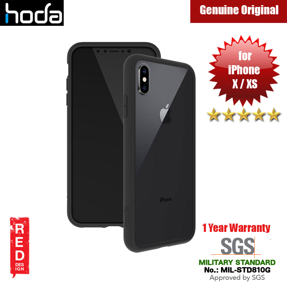 Picture of Hoda Crystal Case Military Standard Drop Proof Case for Apple iPhone XS iPhone X (Black) Apple iPhone X- Apple iPhone X Cases, Apple iPhone X Covers, iPad Cases and a wide selection of Apple iPhone X Accessories in Malaysia, Sabah, Sarawak and Singapore