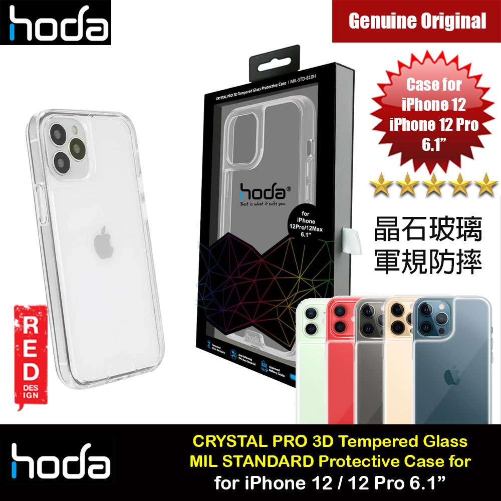 Picture of Hoda Military CRYSTAL PRO 3D TEMPERED GLASS BACKPLATE Drop Protection PROTECTIVE Case for Apple iPhone 12 iPhone 12 Pro 6.1 (Crystal Clear) Apple iPhone 12 6.1- Apple iPhone 12 6.1 Cases, Apple iPhone 12 6.1 Covers, iPad Cases and a wide selection of Apple iPhone 12 6.1 Accessories in Malaysia, Sabah, Sarawak and Singapore