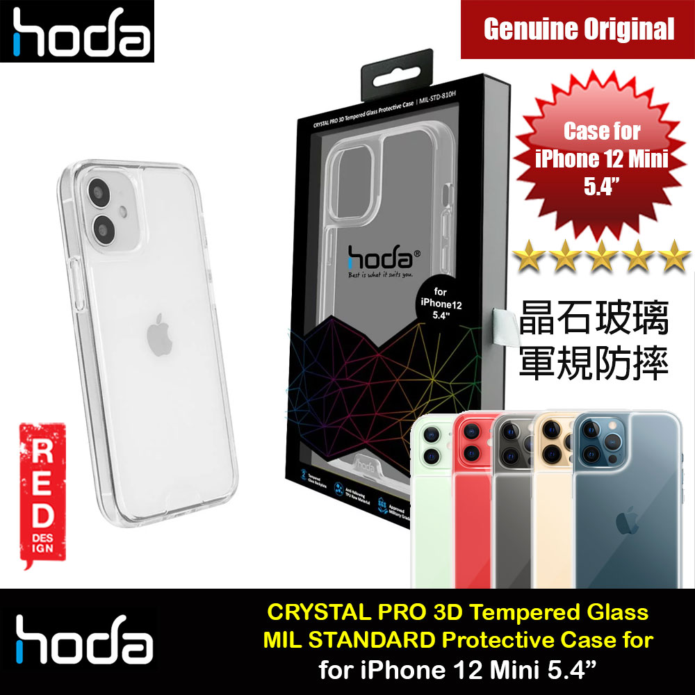 Picture of Hoda Military CRYSTAL PRO 3D TEMPERED GLASS BACKPLATE Drop Protection PROTECTIVE Case for Apple iPhone 12 Mini 5.4 (Crystal Clear) Apple iPhone 12 mini 5.4- Apple iPhone 12 mini 5.4 Cases, Apple iPhone 12 mini 5.4 Covers, iPad Cases and a wide selection of Apple iPhone 12 mini 5.4 Accessories in Malaysia, Sabah, Sarawak and Singapore