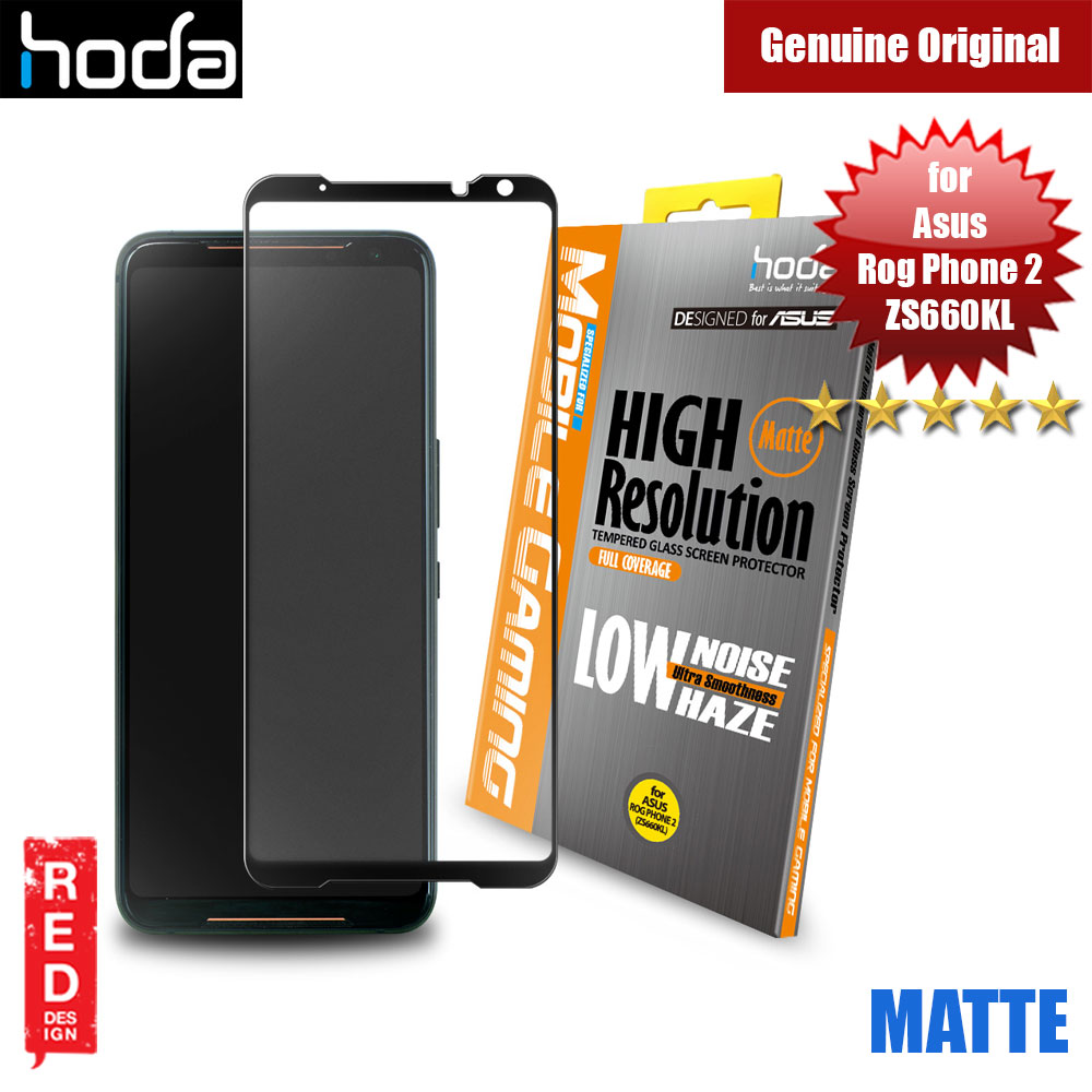 Picture of Hoda 0.33mm Gamers Full Coverage Tempered Glass Protector for Asus Rog Phone II Rog Phone 2 ZS660KL(Matte Black) Asus Rog Phone 2- Asus Rog Phone 2 Cases, Asus Rog Phone 2 Covers, iPad Cases and a wide selection of Asus Rog Phone 2 Accessories in Malaysia, Sabah, Sarawak and Singapore
