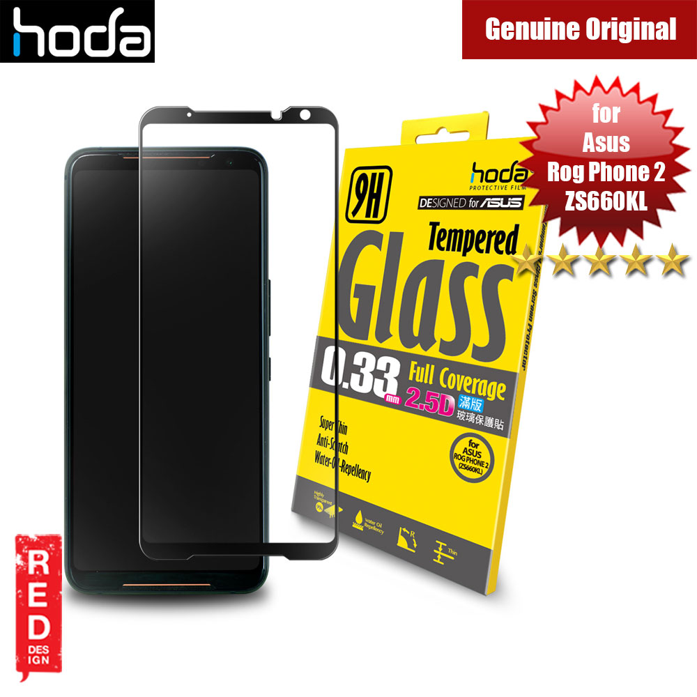Picture of Hoda 0.33mm Full Coverage Tempered Glass Protector for Asus Rog Phone II Rog Phone 2 ZS660KL(Black) Asus Rog Phone 2- Asus Rog Phone 2 Cases, Asus Rog Phone 2 Covers, iPad Cases and a wide selection of Asus Rog Phone 2 Accessories in Malaysia, Sabah, Sarawak and Singapore