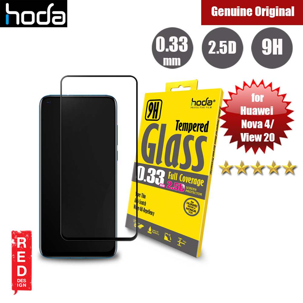 Picture of Hoda 0.33mm Full Coverage Tempered Glass Screen Protector for Huawei Nova 4 View 20 V20 (Black) Huawei View 20- Huawei View 20 Cases, Huawei View 20 Covers, iPad Cases and a wide selection of Huawei View 20 Accessories in Malaysia, Sabah, Sarawak and Singapore