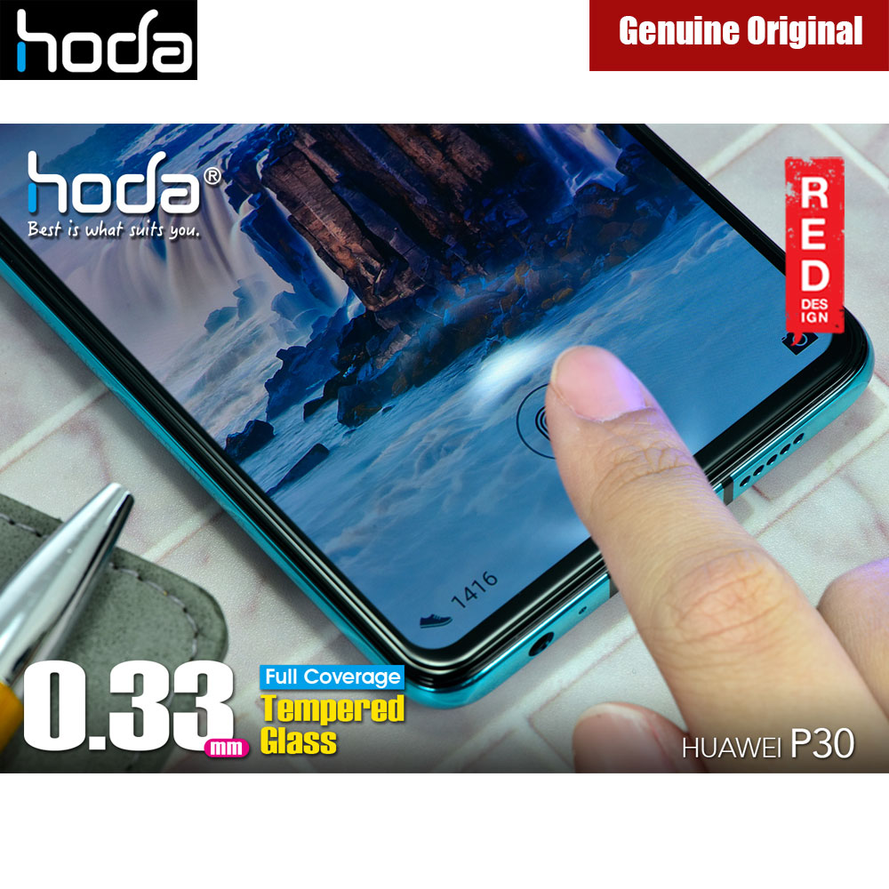 Picture of Huawei P30 Screen Protector | Hoda 0.33mm Full Coverage Tempered Glass Screen Protector for Huawei P30 (Black)
