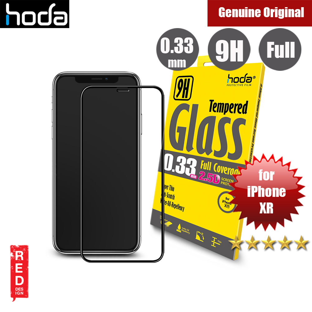 Picture of Hoda 0.33mm Full Coverage Tempered Glass Screen Protector for Apple iPhone XR (Black) Apple iPhone XR- Apple iPhone XR Cases, Apple iPhone XR Covers, iPad Cases and a wide selection of Apple iPhone XR Accessories in Malaysia, Sabah, Sarawak and Singapore