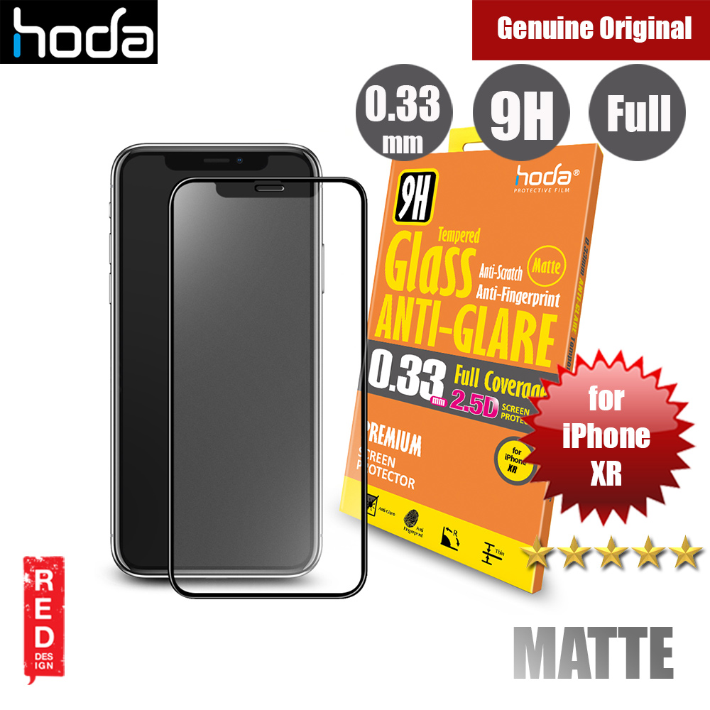 Picture of Hoda 0.33mm Full Coverage Anti Glare Anti Finger Print Matte Tempered Glass Screen Protector for Apple iPhone XR (Black) Apple iPhone XR- Apple iPhone XR Cases, Apple iPhone XR Covers, iPad Cases and a wide selection of Apple iPhone XR Accessories in Malaysia, Sabah, Sarawak and Singapore