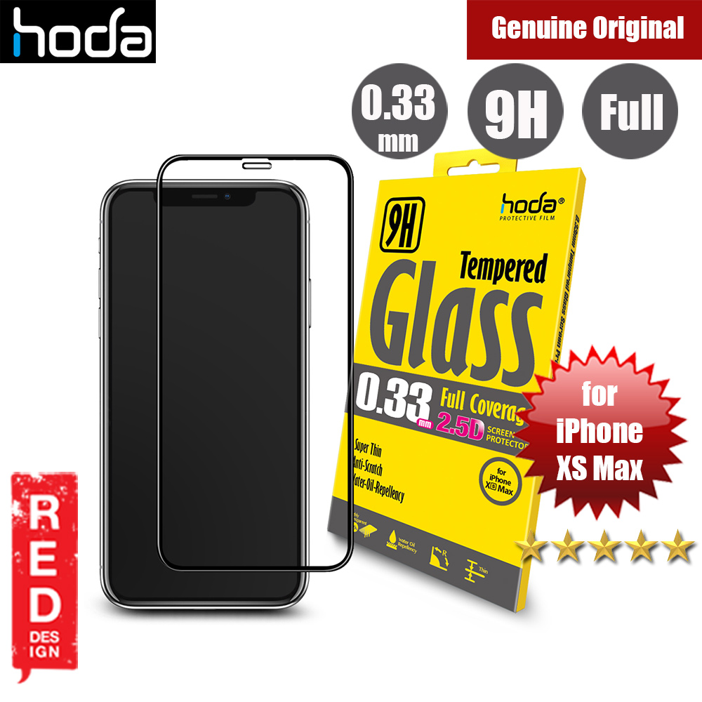 Picture of Hoda 0.33mm Full Coverage Tempered Glass Screen Protector for Apple iPhone XS Max (Black) Apple iPhone XS Max- Apple iPhone XS Max Cases, Apple iPhone XS Max Covers, iPad Cases and a wide selection of Apple iPhone XS Max Accessories in Malaysia, Sabah, Sarawak and Singapore