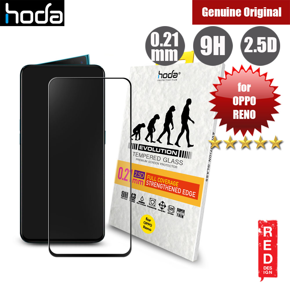 Picture of Hoda 0.21mm Strengthened Edges Full Coverage Tempered Glass Protector for OPPO Reno (Black) Oppo Reno- Oppo Reno Cases, Oppo Reno Covers, iPad Cases and a wide selection of Oppo Reno Accessories in Malaysia, Sabah, Sarawak and Singapore