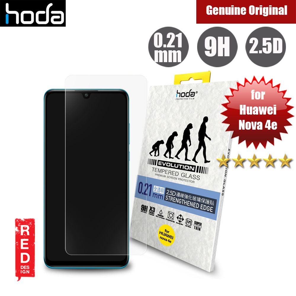 Picture of Hoda Evolution Premium Clear 9H Tempered Glass for Huawei Nova 4e (0.21 mm Clear) Red Design- Red Design Cases, Red Design Covers, iPad Cases and a wide selection of Red Design Accessories in Malaysia, Sabah, Sarawak and Singapore