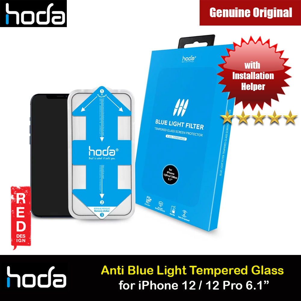 Picture of Hoda 0.33mm Full Coverage Tempered Glass Screen Protector Eye Care Protection Tempered Glass  for Apple iPhone 12 iPhone 12 Pro 6.1 Anti Blue Light Blue Ray (with Helper Installation Kit) Apple iPhone 12 6.1- Apple iPhone 12 6.1 Cases, Apple iPhone 12 6.1 Covers, iPad Cases and a wide selection of Apple iPhone 12 6.1 Accessories in Malaysia, Sabah, Sarawak and Singapore