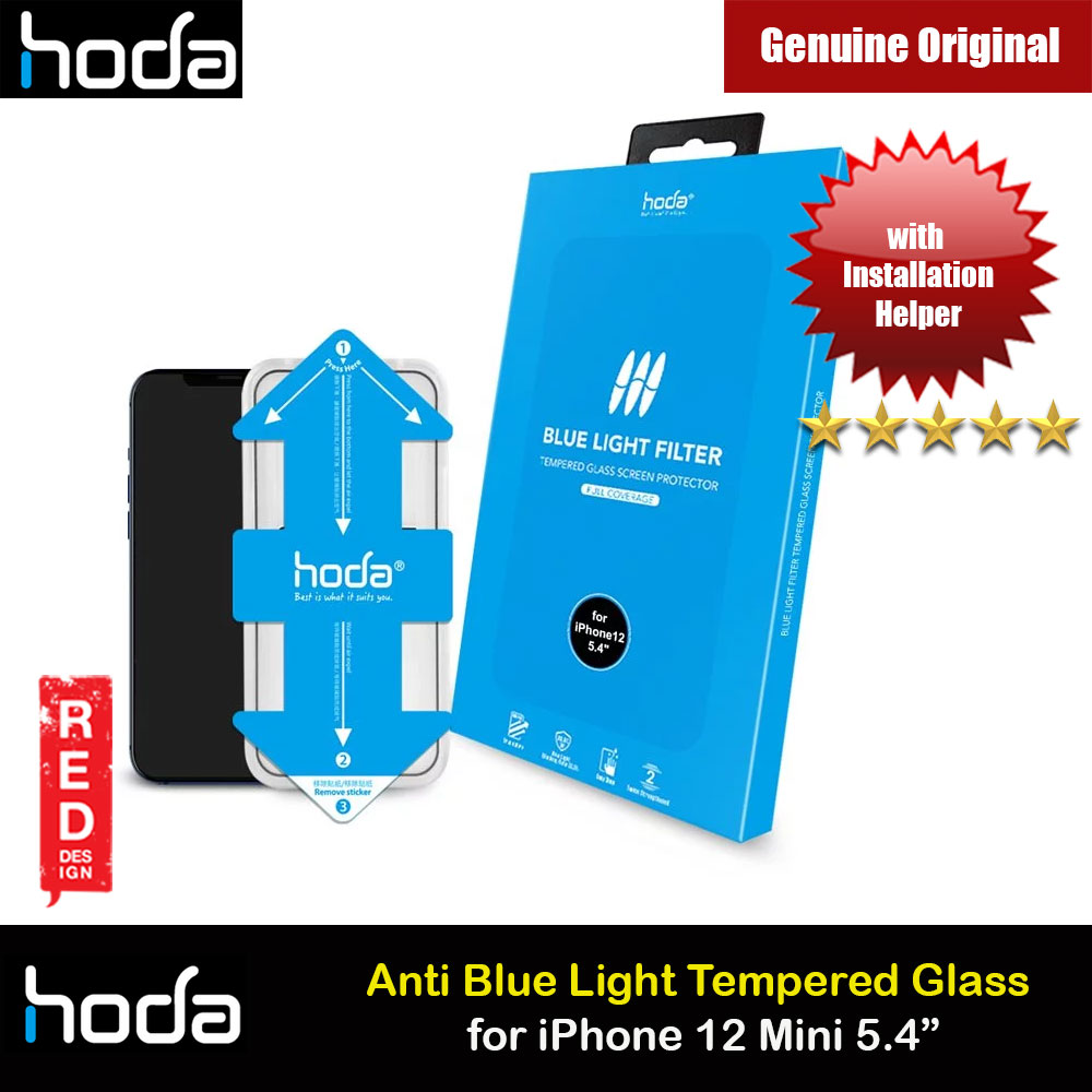 Picture of Hoda 0.33mm Full Coverage Tempered Glass Screen Protector Eye Care Protection Tempered Glass for Apple iPhone 12 Mini 5.4 Anti Blue Light Blue Ray (with Helper Installation Kit) Apple iPhone 12 mini 5.4- Apple iPhone 12 mini 5.4 Cases, Apple iPhone 12 mini 5.4 Covers, iPad Cases and a wide selection of Apple iPhone 12 mini 5.4 Accessories in Malaysia, Sabah, Sarawak and Singapore