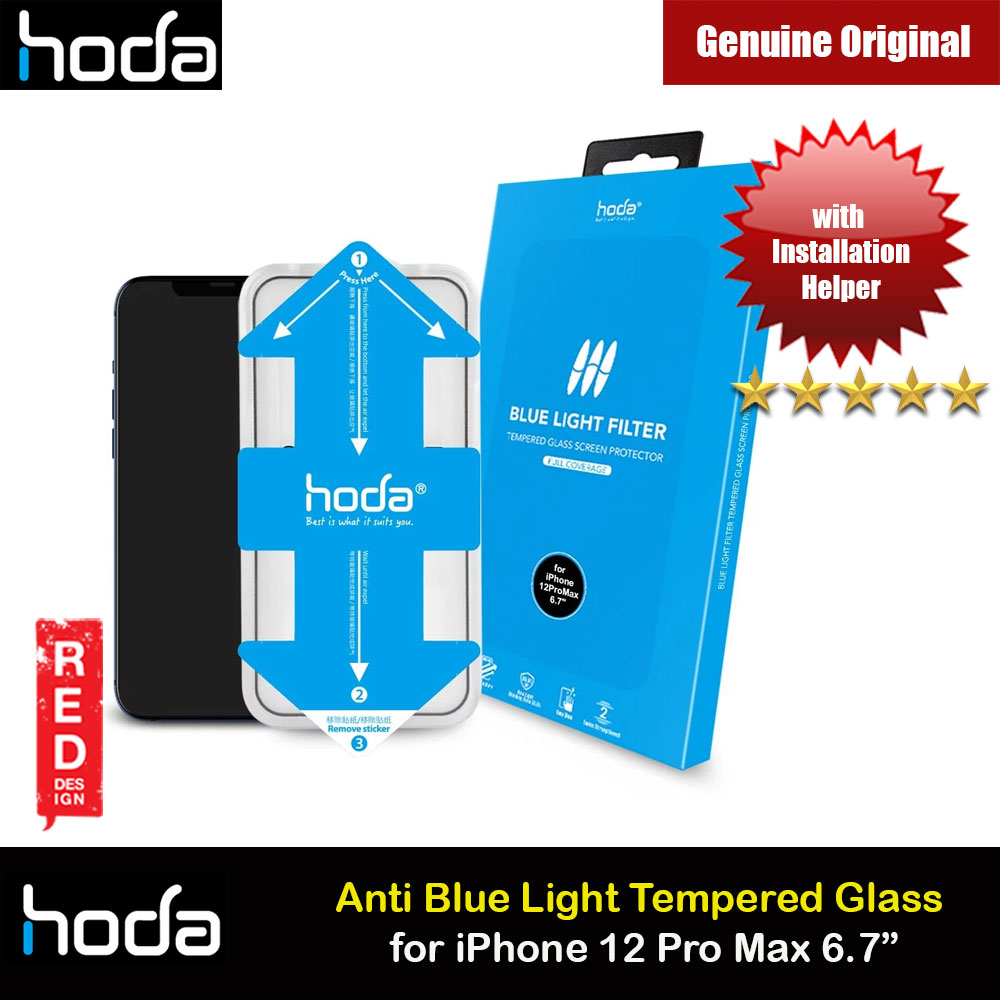 Picture of Hoda 0.33mm Full Coverage Tempered Glass Screen Protector Eye Care Protection Tempered Glass for Apple iPhone 12 Pro Max 6.7 Anti Blue Light Blue Ray (with Helper Installation Kit) Apple iPhone 12 Pro Max 6.7- Apple iPhone 12 Pro Max 6.7 Cases, Apple iPhone 12 Pro Max 6.7 Covers, iPad Cases and a wide selection of Apple iPhone 12 Pro Max 6.7 Accessories in Malaysia, Sabah, Sarawak and Singapore