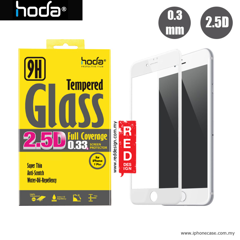 Picture of Hoda 0.33mm Full Coverage Tempered Glass Screen Protector for Apple iPhone 7 Plus iPhone 8 Plus 5.5 - White Apple iPhone 7 Plus 5.5- Apple iPhone 7 Plus 5.5 Cases, Apple iPhone 7 Plus 5.5 Covers, iPad Cases and a wide selection of Apple iPhone 7 Plus 5.5 Accessories in Malaysia, Sabah, Sarawak and Singapore
