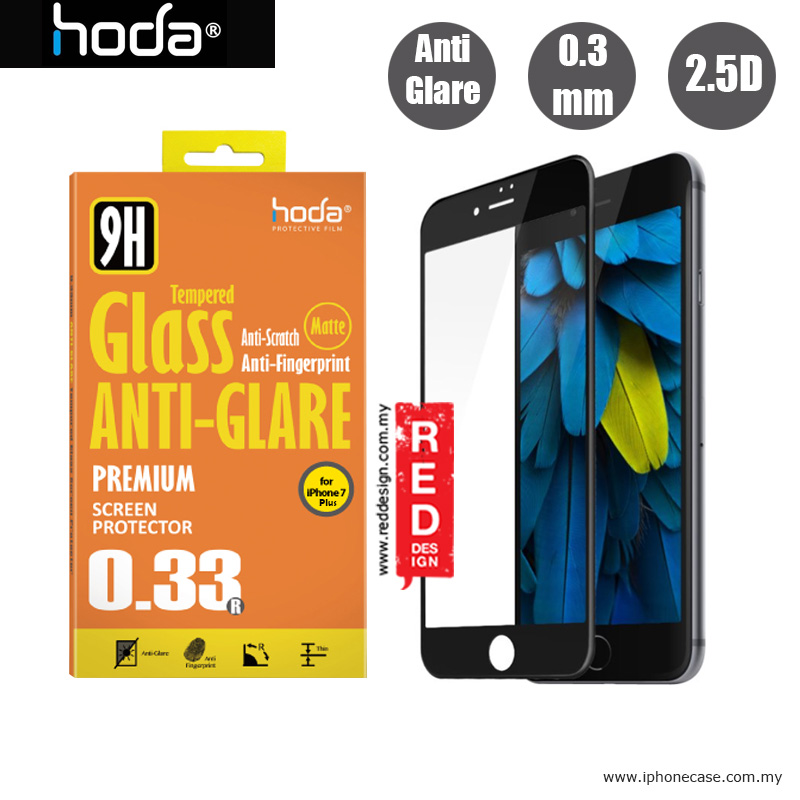 Picture of Hoda 0.33mm Anti-Glare Full Coverage Tempered Glass Screen Protector for Apple iPhone 7 Plus iPhone 8 Plus 5.5 - Black Apple iPhone 8 Plus- Apple iPhone 8 Plus Cases, Apple iPhone 8 Plus Covers, iPad Cases and a wide selection of Apple iPhone 8 Plus Accessories in Malaysia, Sabah, Sarawak and Singapore