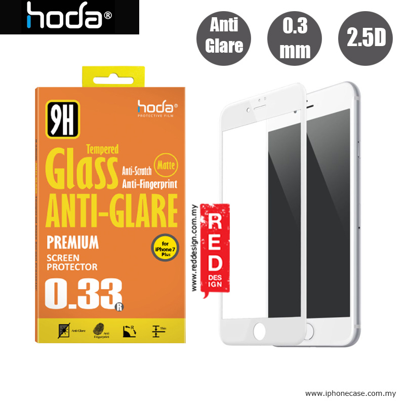 Picture of Hoda 0.33mm Anti-Glare Full Coverage Tempered Glass Screen Protector for Apple iPhone 7 Plus iPhone 8 Plus 5.5 - White Apple iPhone 8 Plus- Apple iPhone 8 Plus Cases, Apple iPhone 8 Plus Covers, iPad Cases and a wide selection of Apple iPhone 8 Plus Accessories in Malaysia, Sabah, Sarawak and Singapore