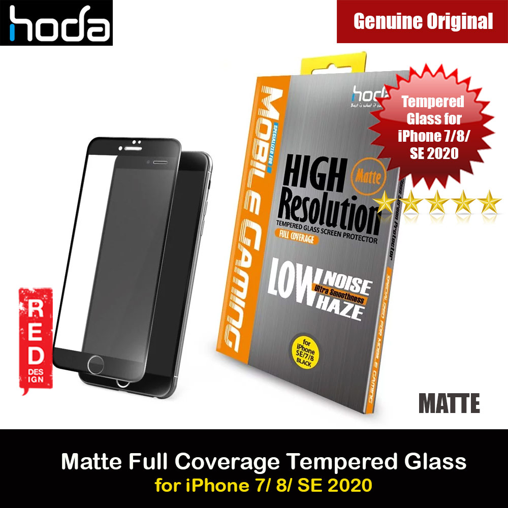 Picture of Hoda 0.33mm Full Coverage Tempered Glass Screen Protector for Apple iPhone 7 iPhone 8 iPhone SE 2020 (Matte Black) Apple iPhone 7 4.7- Apple iPhone 7 4.7 Cases, Apple iPhone 7 4.7 Covers, iPad Cases and a wide selection of Apple iPhone 7 4.7 Accessories in Malaysia, Sabah, Sarawak and Singapore