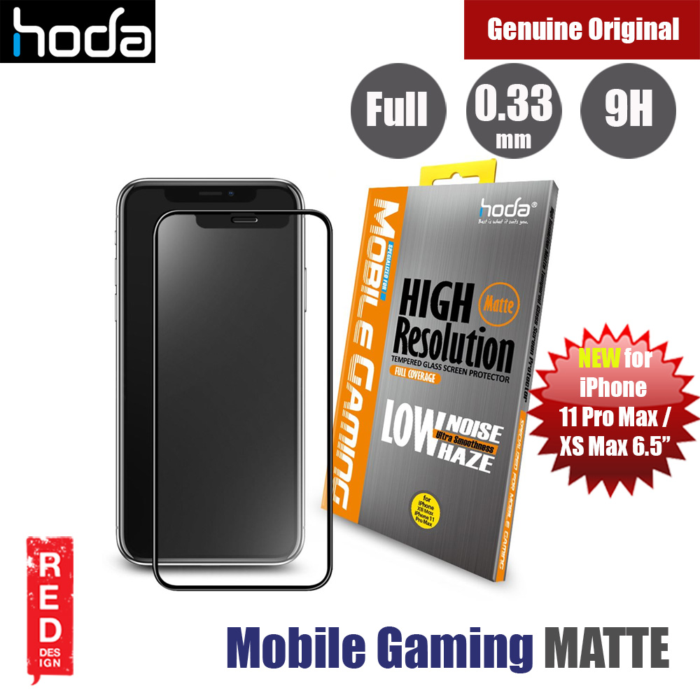 Picture of Hoda 0.33mm Mobile Gaming High Resolution Low Noise Haze Ultra Smoothness Full Coverage Anti Glare Anti Finger Print Matte Tempered Glass Screen Protector for Apple iPhone XS Max 6.5  (Black) Apple iPhone XS Max- Apple iPhone XS Max Cases, Apple iPhone XS Max Covers, iPad Cases and a wide selection of Apple iPhone XS Max Accessories in Malaysia, Sabah, Sarawak and Singapore
